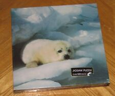 Vintage Sealed - Springbok 500 Pc Puzzle - FURRY - Harp Seal Pup - Seal Talk