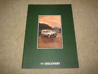 Land Rover Discovery Prospekt Brochure von 10/1990, 24 Seiten