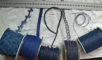 BURLAP Jute DARK BLUE 1 to 16mm Wide 2 to 50 Metres Long 5 AsstStyle Choice BRD4