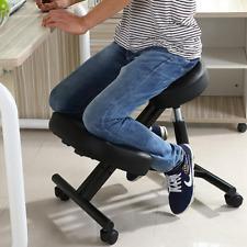 Moustache® Ergonomic Adjustable Kneeling Office Chair, Black