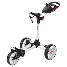 Fast Fold Flat Golf Trolley, White, One Size - Fast 3wheel Trolley White New