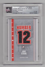 ERIC STAAL 2012-13 ITG Ultimate Memorabilia Number 12 Jersey Silver /24 Carolina