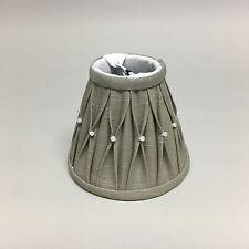 Light & Living Lampenschirm SIERPLEAT Leinen mit Perlen grau 14x7x12cm 2014112