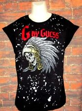 MENS G BY GUESS BLACK SLEEVELESS T-SHIRT SIZE M