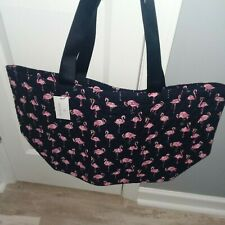 NWT NEW Vera Bradley Large Family Tote Flamingo Fiesta Quilted Cotton