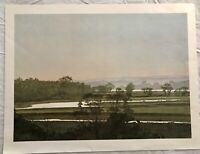 BEAUTIFUL VINTAGE LANDSCAPE WATERCOLOR PAINTING ART PRINT BY COLIN KIRBY GREEN