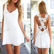 Lace Floral Sleeveless Sundresses for Women
