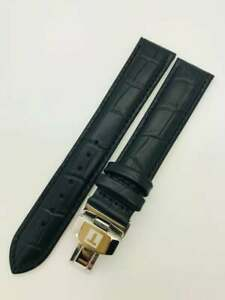 New Tissot 20mm black Genuine Leather Strap with Buckle for Tissot watches