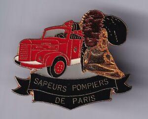 RARE PINS PIN'S .. POMPIER FIRE CAMION TRUCK CASQUE BERLIET POMPE SP PARIS 75~D8