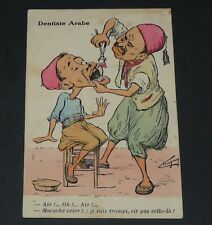 CPA COLONIES ALGERIE CARICATURE HUMOUR COLONIALISME ILLUSTRATEUR CHAGNY DENTISTE