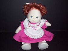 Vintage Mattel 1985 My Child Doll Red Hair Pigtails Pink Dress Socks Shoes