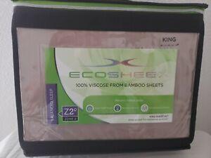 Sheex Eco Sheex 100% Viscose Bamboo King Sheet Set Taupe