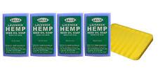Authentic Green Hemp Australia  4 Pack Lavender Hemp Seed Soap Bars Aussie Made