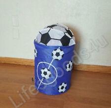 Brand New Pop Up Portable kids Clothes hamper / Basket  Blue/White Soccer Ball