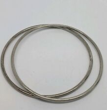 ROBERTO COIN STERLING SILVER STACKING BANGLE BRACELETS