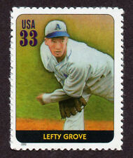 UNITED STATES, SCOTT # 3408-K, SINGLE STAMP OF LEFTY GROVE, BASEBALL LEGEND, MNH