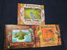 Kokopelli&Two Tribes Butterfly Island Change Book LOT Micahel Stearns Signed B10
