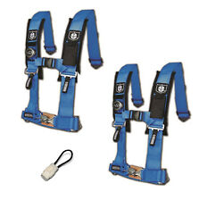 "Pro Armor 4 Point Harness 2"" Pads Seat Belt Pair Bypass Blue YXZ 1000R 2017+"
