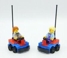 Lego Minifigure Amusement park ride Bumper cars with 2 Minifigures city town