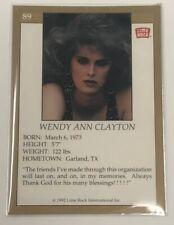 1992 Lime Rock Pro Cheerleaders Wendy Clayton Ann #89