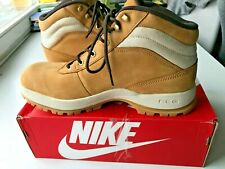 Nike ACG Mandara Tan Brown Leather Ankle High Top Work Boots - US 12