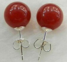 10mm Jewelry Natural Red Ruby & Sterling Stud Earrings