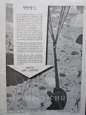 4/1946 PUB IRVING AIR CHUTE IRVIN RAF PARACHUTE CANOPIES HARNESS ORIGINAL AD