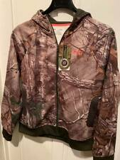 NWT UNDER ARMOUR UA CAMO FULL ZIP REALTREE HUNTING WOMEN'S HOODIE LARGE NEW PINK