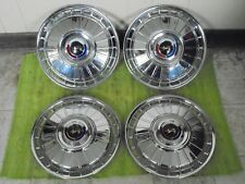 "NICE 1962 Ford HUB CAPS 14"" Set of 4 Wheel Covers 62 Hubcaps"