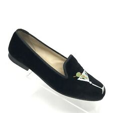 Stubbs Wootton Martini Loafer Black Cocktail Slipper Shoe Womens SIZE 6