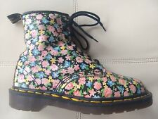 DOC DR. MARTENS BLACK FLORAL BOOTS MADE IN ENGLAND RARE VINTAGE 5UK US WOMENS: 7