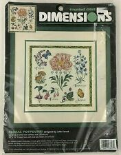 Dimensions Floral Potpourri Counted Cross Stitch Kit #3827 Julie Farrell 1996
