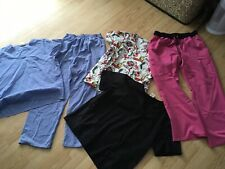 Scrubs Size Large Mixed Lot Of 5-2 Pants & 3 Tops
