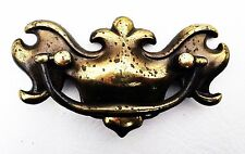 "chippendale Colonial brass vintage antique hardware drawer pull handle 3"" center"