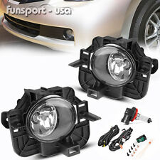 for 07-09 Nissan Altima 4DR Clear Front Bumper Fog Light Lamps+Switch+Wiring Kit