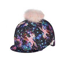 ELICO UNICORN MAGICAL PONY FANTASIA LYCRA SKULL CAP HAT COVER POM-POM dark