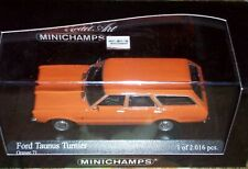 Minichamps 1/43 FORD TAUNUS Turnier 1970 Orange 71 400081311 LIMITED 2016 pcs