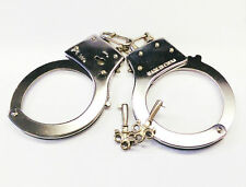 2x SWAT Metal Handcuffs With Keys Safety Release Hand Cuffs Fancy Dress Police