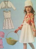 McCalls Sewing Pattern 6914 Childs Girls Jacket Top Dress Skirt Size 6-8 Uncut