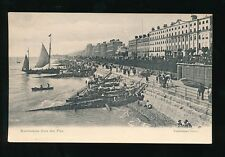Sussex EASTBOURNE Busy beach & boat scene Valentine c1900s? PPC