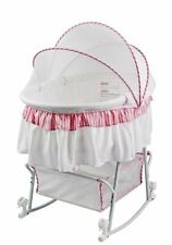 Dream On Me Lacy Protable 2 in 1 Bassinet and Cradle, Pink/White , New, Free Shi