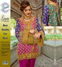 Pakistani Elan Maria B DESIGNER Suit Wedding Dress Collection Shalwar Kameez Emb