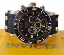 Invicta Stainless Copper Pro Diver 23702 Black Rubber Mens Chronograph Watch
