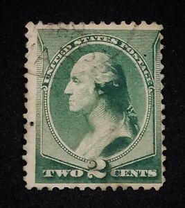 Vintage US 2 Cent George Washington Stamp |  Green  ~Very Fine~