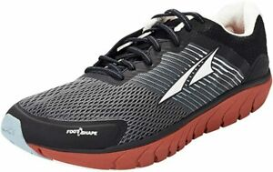ALTRA Men's Provision 4 Road Running Shoe, Black/Gray/Red, 11.5 D(M) US