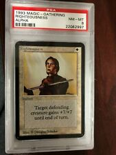 MTG Alpha Righteousness PSA Graded 8 Near Mint - Mint