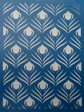 Scrapbooking - STENCILS TEMPLATES MASKS SHEET - Peacock Feather background