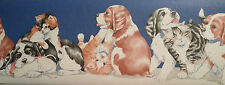International  Wallcovering Dogs And Cats  Wallpaper Border