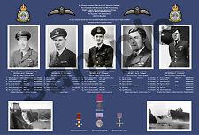 aviation art pilot photo colour WW2 617 Squadron Dambuster print crew Lancaster