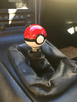 Pokemon Pokeball Shift Knob 8x1.25 10x1.25 10x1.5 & 12x1.25 metal insert ball